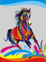 """Картина-раскраска """"Радужный конь"""" (VK040) 30 x 40 см"""