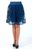 Молодежная подростковая юбка синего цвета с 40 размера.