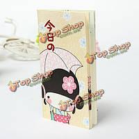 Кимоно девушки дневник карманный блокнот бумага для заметок журнала планировщик расписание