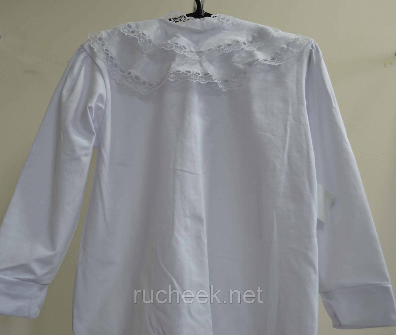 Блуза белая  для девочки в школу, садик р-р 116-122