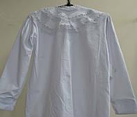 Блуза белая  для девочки в школу, садик р-р 116-122, фото 1