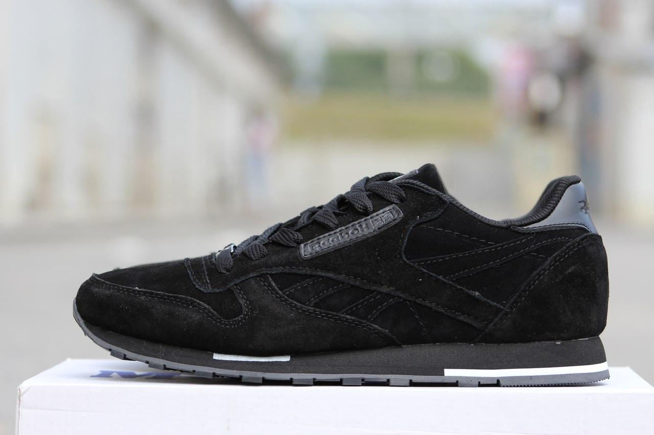1f4bb2169 Мужские осенние кроссовки Reebok черные замшевые 41р, цена 780 грн., купить  в Хмельницком — Prom.ua (ID#336387967)