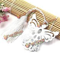 Серебристый металл ангел закладки с кисточкой свадебных младенца благосклонности партии подарков