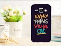 Силиконовый чехол для Samsung Galaxy J1 с картинкой Надпись