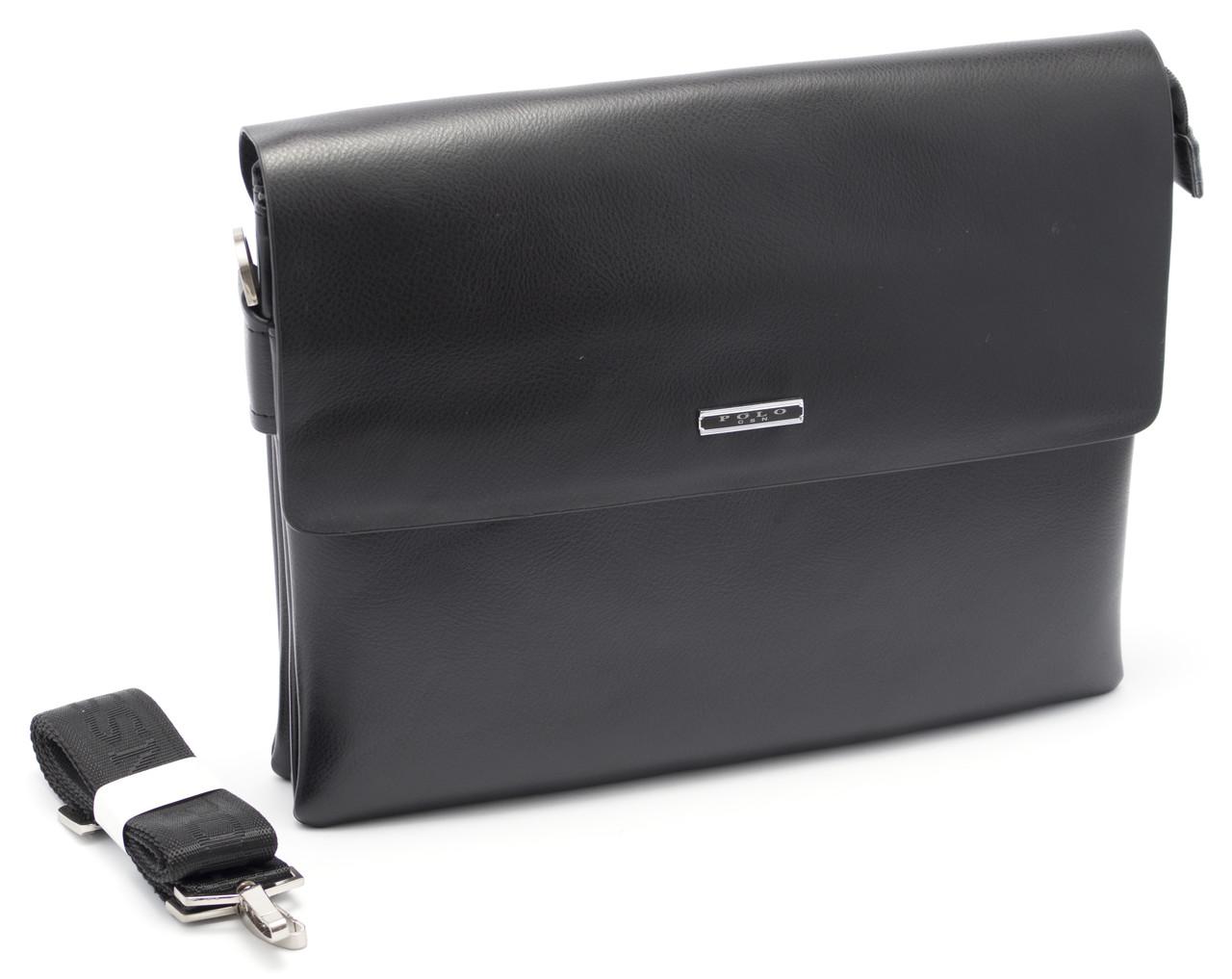 Мужская черная сумка POLO art. 6760-6