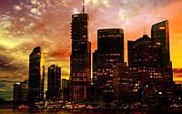 Фотообои Закатный город