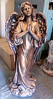 Скульптура ангелов. Ангел на кладбище из цемента под бронзу 82 см