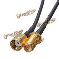 9м 30 футов черный удлинитель антенны маршрутизатора Wi-Fi РП-SMA для SMA в ТВ кабель кабель