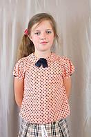 Летняя красивая блуза для девочки в школу, р. 134 140 146 152