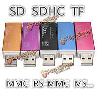 По USB 2.0 все в одном устройство чтения карт памяти микро SD памяти SDHC алюминий ТФ мс м2
