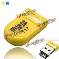 Т17 цветастая мини-порт USB2.0 микро SD и TF T-флэш-карты памяти читателя