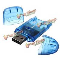 Мини-USB 2.0 память мульти-кард-ридер подходит для MMC памяти SD карты памяти SDHC TF для