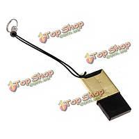 Золотые доспехи с USB 2.0 один слот микро-SD TF кард-ридер