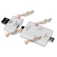 Т-635 3 в 1 многофункциональный USB 3.1 ABS типа с OTG сд ТФ внешнего считывателя карт