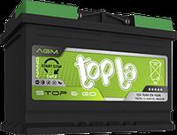 Аккумулятор Topla AGM 80Ah/800A (- +) , гарантия 36 месяцев
