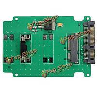 Мини-PCI-E SSD msata 50мм с 2.5-дюймовым SATAIII 7 контактный 15-контактный адаптер конвертер карт