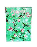"Обложка на паспорт ""Зеленая цветочная"""