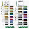 Карта цветов Madeira Metallic Perle
