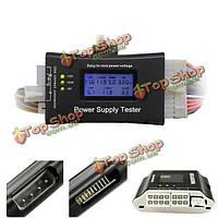 Цифровой ЖК-тестер питания для ПК ATX / BTX / ITX 4pin SATA винчестер