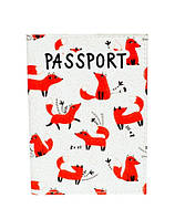 """Обложка на паспорт """"Прикольные лисички"""""""