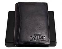 Портмоне вертикальное мужское Always Wild (N890) кожаное черное, фото 1