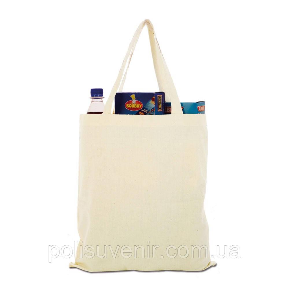 Еко сумка із нефарбованого полотна