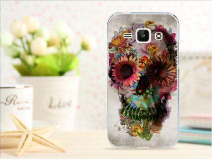 Чехол для Samsung Galaxy J1 J100 с картинкой -  Череп из цветов