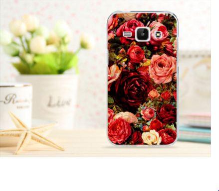 Чехол для Samsung Galaxy J1 J100 с картинкой -  Пионы