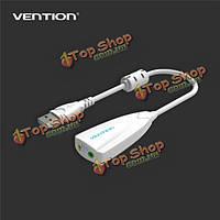 Конвенция VAB-S09 USB-адаптер 2.0 внешняя звуковая карта с ферритовым сердечником разъем для стереонаушников 3.5 мм микрофонный