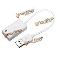 USB виртуальный 7.1-канальный аудио адаптер Звуковая карта