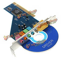 4 канала с-медиа 3D аудио стерео PCI Звуковая карта с Win7 32 64бит Виста