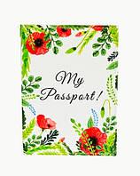 "Обложка на паспорт ""Нежные маки"""