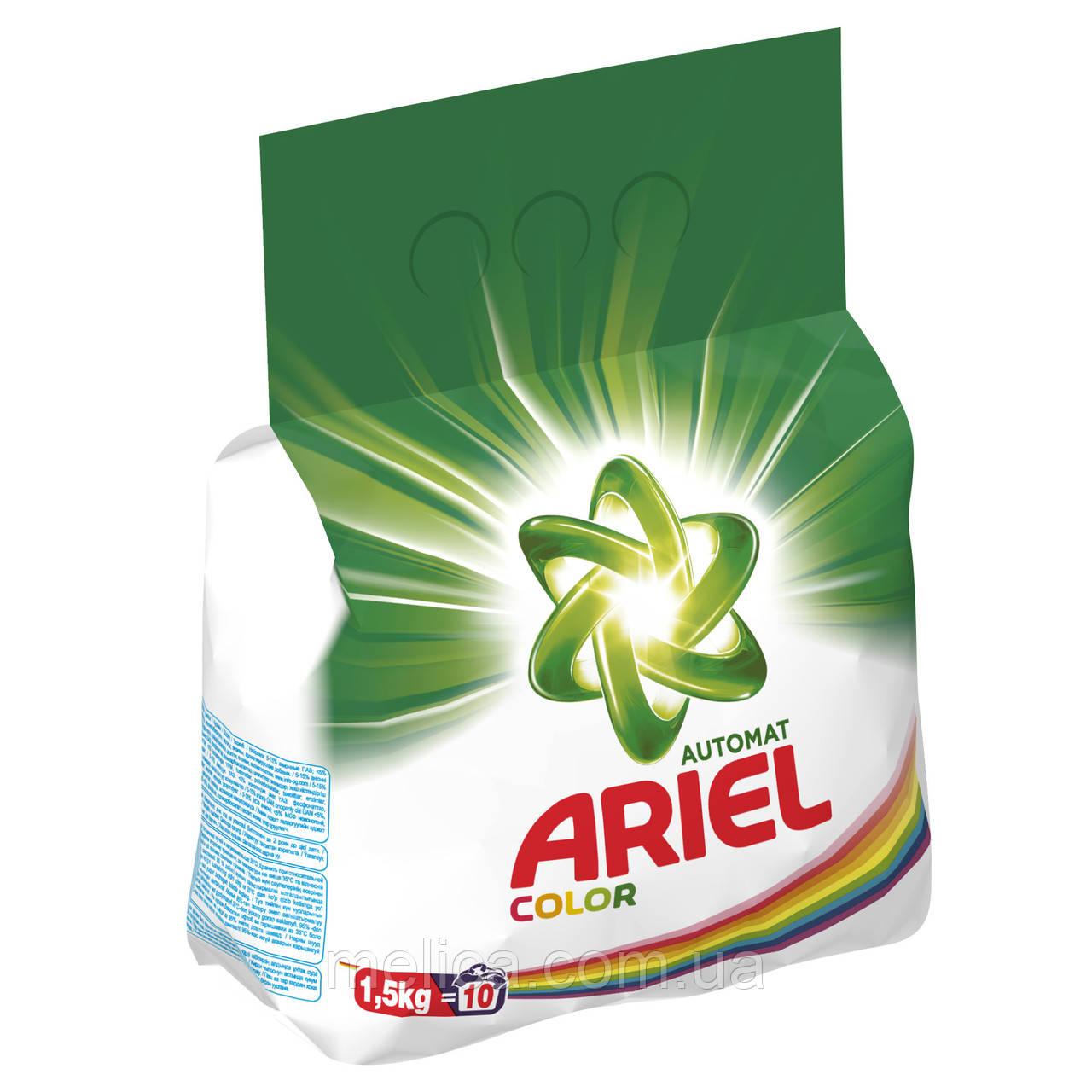 Стиральный порошок Ariel Чистота Deluxe Color 1,5 кг Автомат