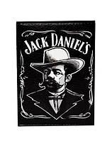 """Обложка на паспорт """"Jack Daniel's"""" на черном фоне"""