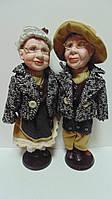 Пара фарфоровых кукол Бабушка с Дедушкой высота 43 см, фото 1