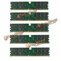 5шт 4Гб DDR2 800МГц PC2-6400 240 булавки настольных ПК AMD памяти материнской платы