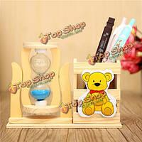 Деревянная ручка держатель карандаша песочные песочные часы песочные бюро декора подарки