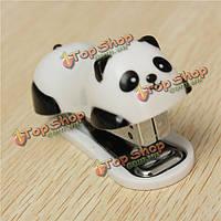 Милые панды мини настольных степлер и скобы руки степлер офис домой степлер