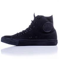 Кеды Converse All Star Black Monochrome (Чёрные высокие)