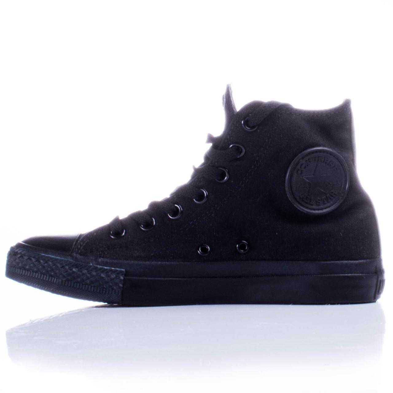 Кеды Converse All Star Black Monochrome (Чёрные высокие)  продажа ... c26519a5787