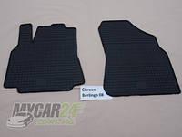 Резиновые ковры в салон перед. Peugeot Partner 08- (LUX) кт-2 шт.