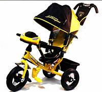 Детский трехколесный велосипед Lamborghini LР2O с фарой, желтый