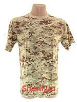 Камуфлированная футболка камуфляж MIL-TEC Digital Desert 11012073