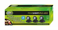 Светодиодный светильники для пруда 3х2,2 Вт. с датчиком освещенности AquaNova