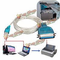 USB 2.0 тип Male к IEEE1284 36-контактный кабель адаптера женский для параллельного принтера