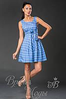 Летний короткий сарафан - платье. (6 расцветок) 3579 клетка.
