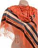 Яркий женский кашемировый палантин размером 70*180 см Подиум A2992-1 (оранжевый)