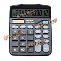Гастронома 837 Основной настольный калькулятор 12 цифровой дисплей двоевластие солнечной батареи и