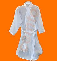 Халат для салонів краси вафельний 100% бавовна білий, фото 1