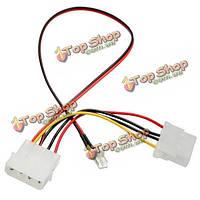 CPU Fan 4pin патч-корд к 3/4 штифтами адаптер питания кабель провод провода
